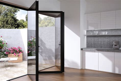glazed folding patio doors flush glazed frameless glass bi fold with aluminium the