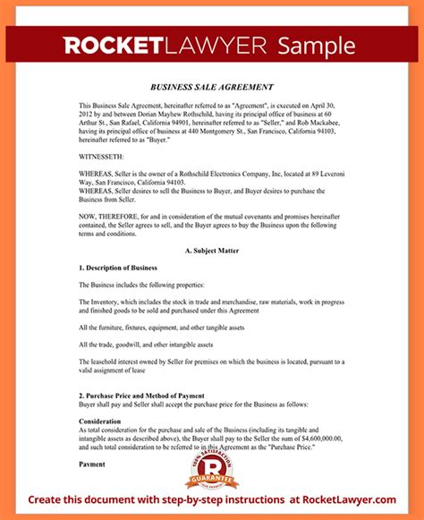 6 Small Business Purchase Agreement Template Purchase Agreement Group Small Business Sale Agreement Template