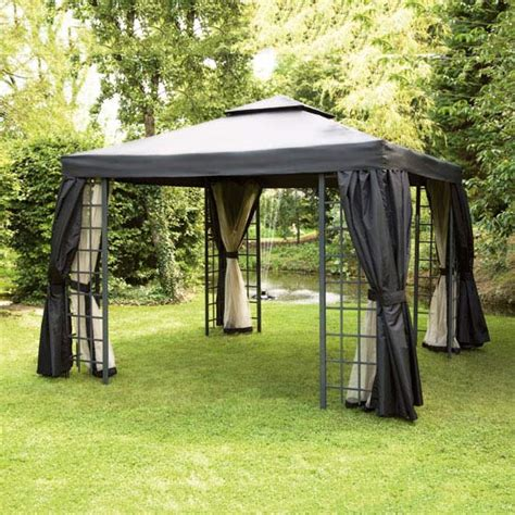 Gazebo Net Curtains Replacement Net Curtains For Black Suntime Deluxe 3m Gazebo Gables And Gardens