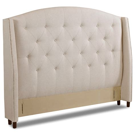 Padded King Headboard Klaussner Upholstered Beds And Headboards Harvard King Size Upholstered Headboard With Nailheads