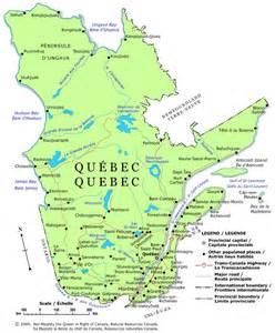Quebec Canada Map by Quebec Political Map