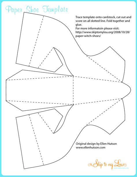 How To Make A Shoe Out Of Paper - best photos of witch cut out templates witch
