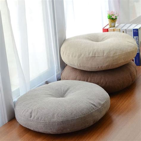chair bed pillow soft canvas round chair cushion seat pad for patio home car office floor pillow with insert