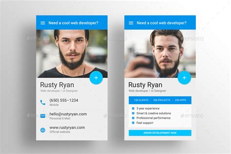 material design business card template free made material design business card template by