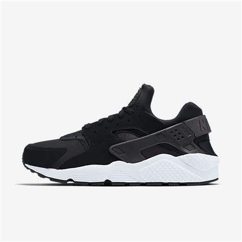 nike air huarache black white shoes