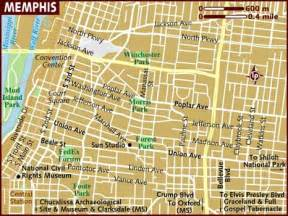 Memphis Map Usa by Memphis Tennesee Map Images Frompo 1