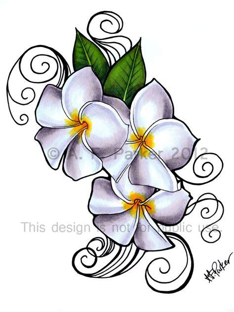 frangipani tattoos designs plumeria siam lilac design weasyl