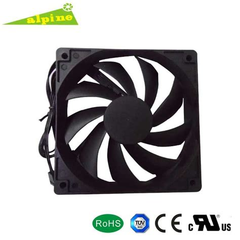 Cooling Fan Black Hi Lo dc 12v 12025 black cooling fan high speed low noise fan