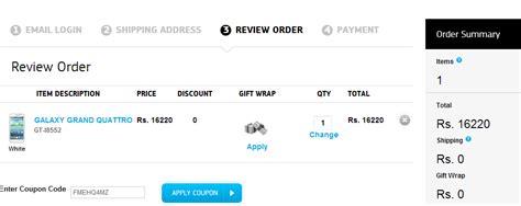 Samsung Promo Code Samsung India Estore Discount Offer For Mnc S