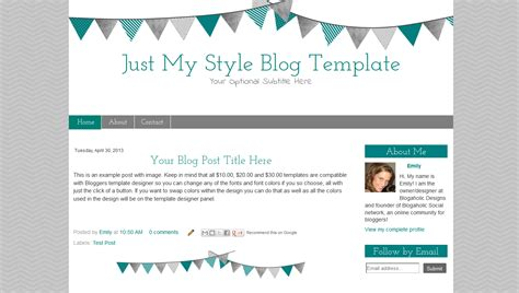 chevron blog template modern