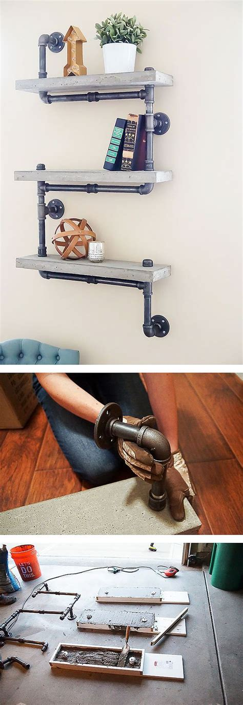 industrial pipe shelves tutorial they work great anywhere amazing 30 diy industrial pipe shelves crafts and diy ideas