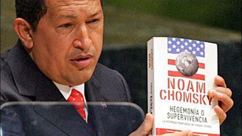 noam chomsky best books chomsky gets boost from chavez cbs news