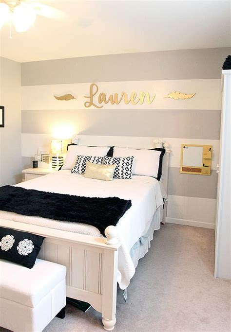 bedroom ideas for young women grey bed grey bed bench teen girl s room gray striped walls black and white