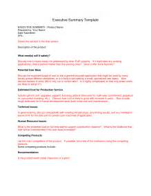 Executive Summary Sample Report Pics Photos Executive Summary Report Template Free
