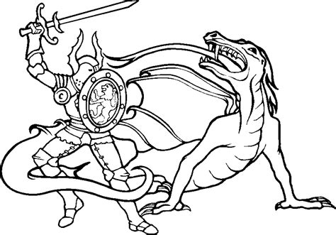 coloring pages knights and dragons medieval dragon coloring pages az coloring pages