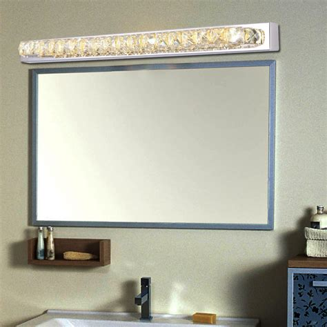 long bathroom mirrors 87cm long crystal bathroom mirror sconce light 110v 220v