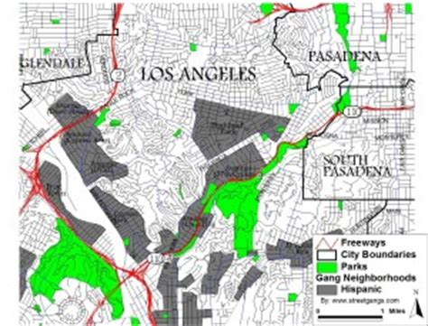 california gangs map territory map data for los angeles county