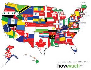 What Country Made Map Of The Us Redrawn As If The States Were Countries With