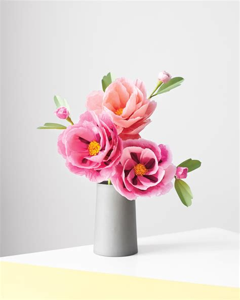 How To Make Paper Roses Martha Stewart - how to make paper flowers peony martha stewart weddings