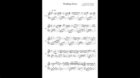 Wedding Dress Taeyang Piano Sheet by Wedding Dress Taeyang Piano Sheet Vosoicom Wedding