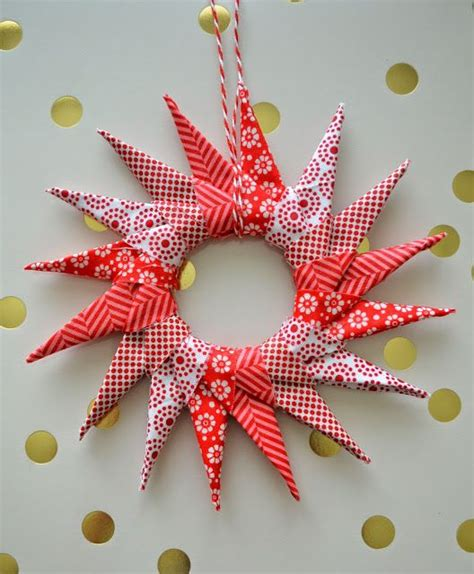Origami Wreath Ornament - 2096 best ornaments images on