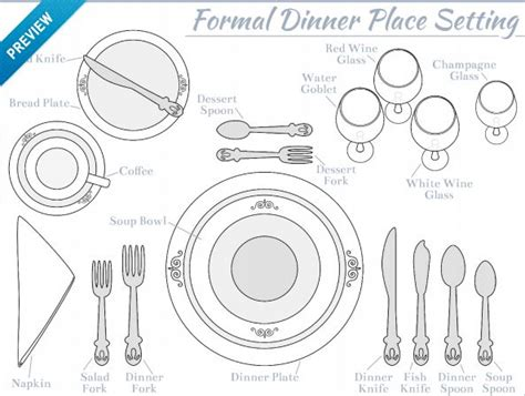 formal dinner place setting 70 best work images on