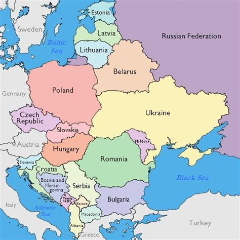 eastern map maps of eastern european countries