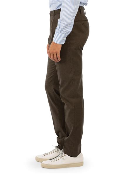 Pleated Slim Fit incotex slim fit touch pleated trousers brown hos