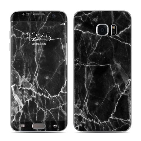 Marble For Samsung S7 Edge samsung galaxy s7 edge skin black marble by marble collection decalgirl