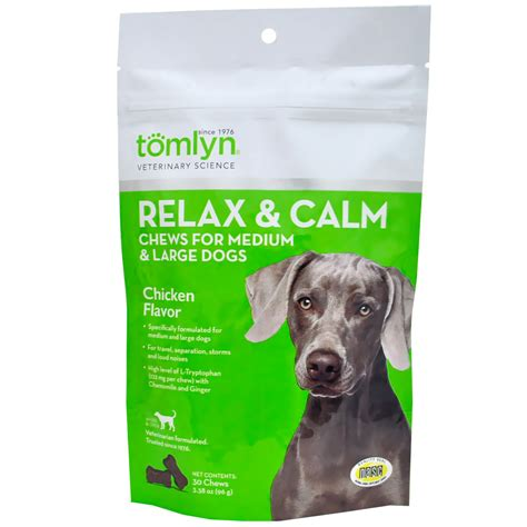 calming chews for dogs tomlyn relax calm chicken liver chews for dogs 45 chews