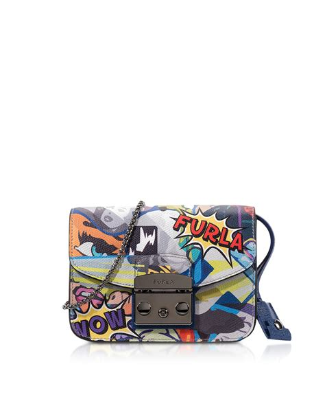 Furla Metropolis Mini Crosbody Include Box furla metropolis multicolor graffiti mini crossbody bag lyst
