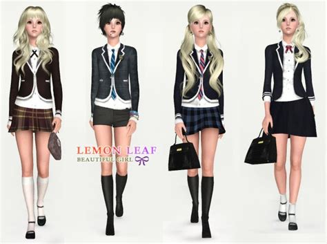 h winter showroom blog june 2010 my sims 3 blog updated lemon leaf uniforms teen adult