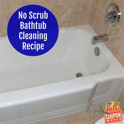 no scrub bathtub cleaner bathtub cleaning recipe no scrub hot coupon world