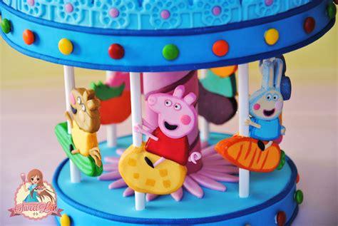 Grosiran Peppa Pig Peppa Pig Carrousel peppa pig s carousel cake topper cakecentral