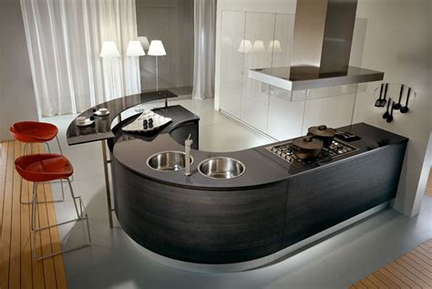 round kitchen design pedini kitchens with rounded countertops digsdigs