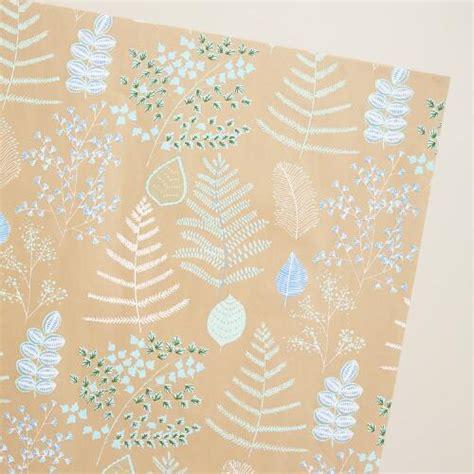 Handmade Gift Wrap - lakeside leaves handmade gift wrap world market