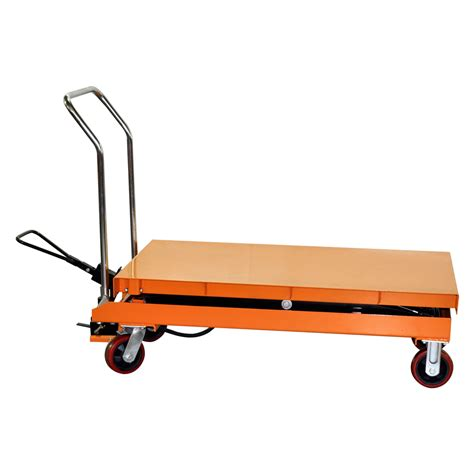 hydraulic scissor lift table cart 2200 lb tf100d