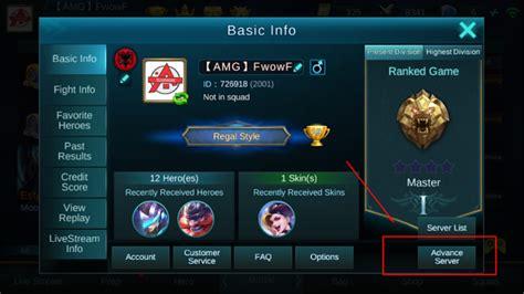 mengganti server mobile legends bang bang