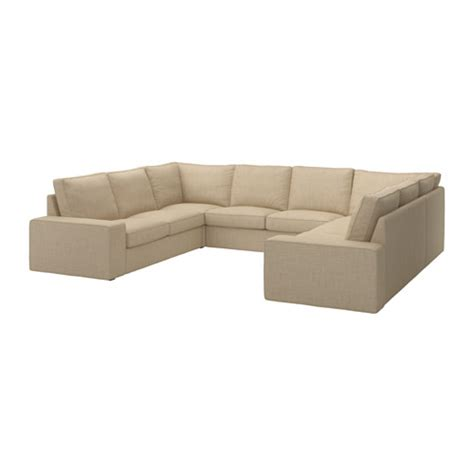 kivik sofa u shaped 8 seater isunda beige ikea