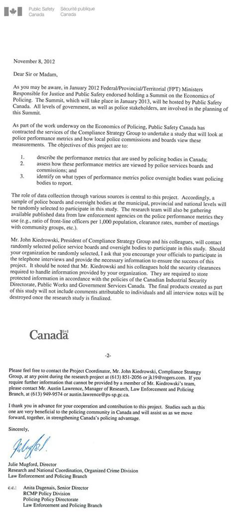 Commitment Letter Plc Canadian Board Views On The Use Of Performance Metrics