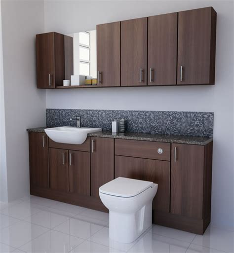 Bathcabz Bathroom Fitted Furniture Products Fitted Walnut Bathroom Furniture