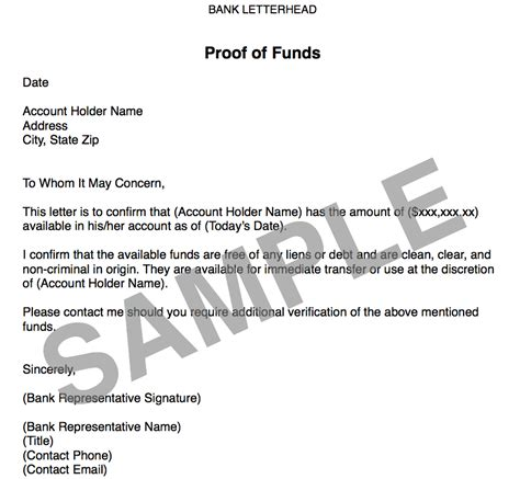 sle proof of funds letter template real estate coaching real estate real estate