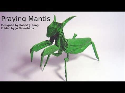 Origami Mantis - origami praying mantis robert j lang not a tutorial