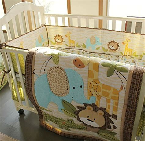 safari baby boy 7 pieces nursery crib bedding