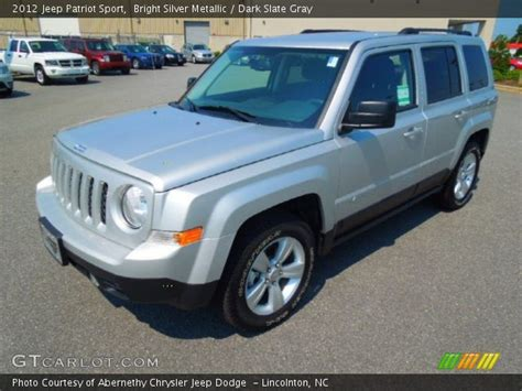 silver jeep patriot interior bright silver metallic 2012 jeep patriot sport