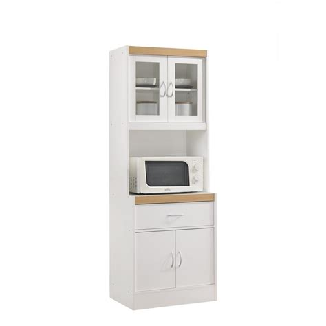white cabinet microwave hodedah china cabinet white with microwave shelf hikf96