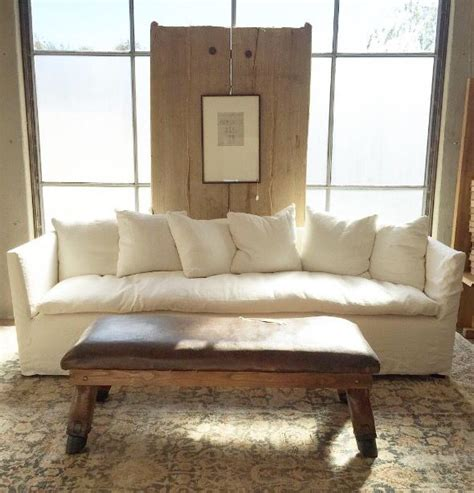sofa odong pony by dboutiqe white sofa and bench table made from vintage leather