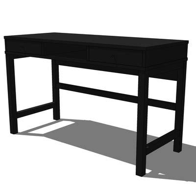 Ikea Linnarp Desk 3d Model Formfonts 3d Models Textures Black Desk Ikea
