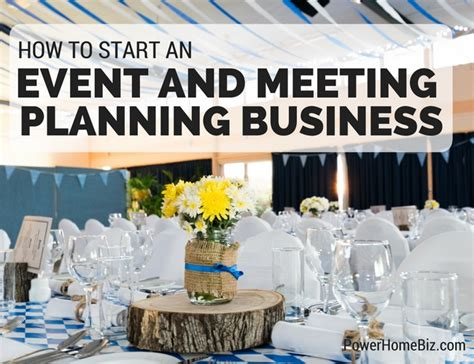 how to start an event and meeting planning business