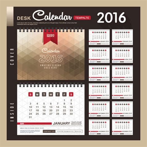 free calendar design templates assorted free 2016 calendar design templates designfreebies